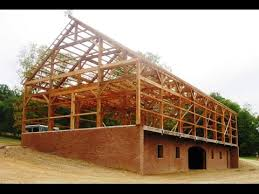 Tall Timber Barn Timber Frame Construction Youtube