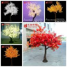 decorations large middle small size lighted up cherry tree