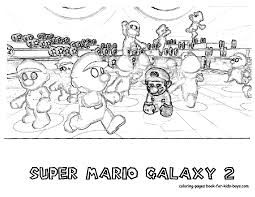 super mario brothers galaxy coloring pages mickey minnie