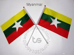 Myanmar Flag Photos Myanmar Burma Flag Banner 10 Pieces Lot 14x21cm Flag 100