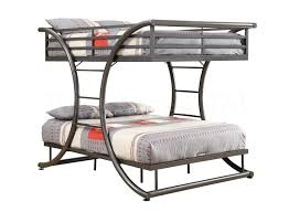 Gun Metal Full Over Full Size Bunk Bed Bunk Beds COA - Full sized bunk beds
