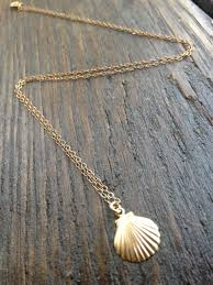 necklace pendant shell images Gold seashell necklace tiny seashell seashell charm jpg