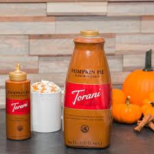 Pumpkin Spice Frappuccino Bottle by Torani 64 Oz Pumpkin Pie Flavoring Sauce