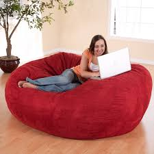 jaxx 6 foot cocoon u2013 large bean bag chair for adults charcoal