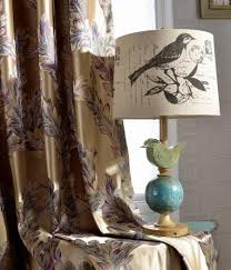Floral Jacquard Curtains Precision Jacquard Curtains Peacock Feather Yarn Luxury Floral