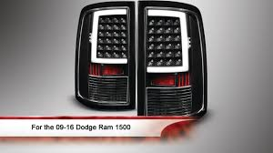 2014 ram 1500 tail lights 09 16 dodge ram 1500 light bar led tail lights youtube