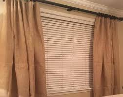 Burlap Drapery Burlap Curtain Panel Etsy