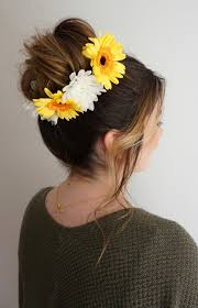 flower hair bun how to make flower child hair step by step tutorial