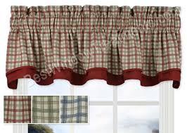 Country Plaid Curtains Bristol Plaid Bradford Valance Plaid Curtains Valance And Bristol