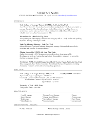 Occupational Therapist Resume Sample by Massage Therapy Resume Template Corpedo Com