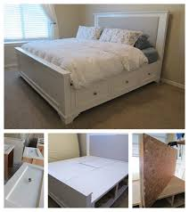 Farmhouse Bed Frame Plans Creative Ideas How To Build A Farmhouse Storage Bed With Drawers