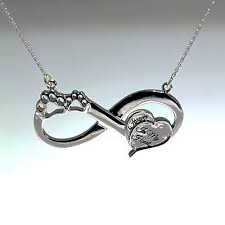 remembrance necklace sterling silver eternity remembrance necklace forever in my