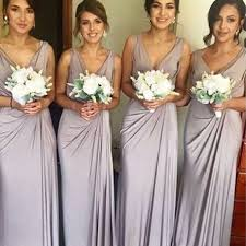 bridesmaid dresses lavender sheath v neck floor length lavender spandex bridesmaid dress