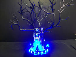 corpse bride u0026 victor wedding cake topper gothic tree with