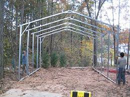 Car Port Construction How To Build A Carport Step By Step Metal Carports Steel Garages