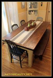 Kitchen Table With Bench Seating And Chairs - farm diningle farmhouse sets with bench seating room plans rustic