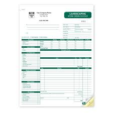 lawn maintenance invoice landscaping business resource pinterest