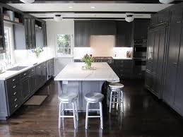 Light Gray Kitchen Cabinets by Grey Kitchen Cabinets With Dark Floor