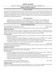 financial analyst resume senior financial analyst resume the best resume