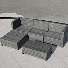 Gray Patio Furniture Sets - amazon com tangkula 5pc outdoor patio sofa set sectional