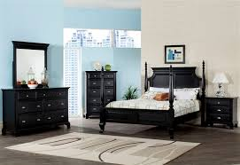 4 post bedroom sets canterbury poster bed in black finish by acme 10430q
