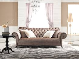 furniture light brown leather tufted sofas for classy living room