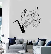 wall decal saxophone jazz music art musical instrument vinyl wall decal saxophone jazz music art musical instrument vinyl stickers ig2881