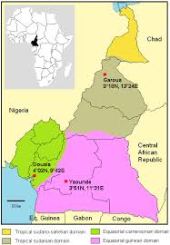 map of cameroon map of cameroon climatic zones and location of the 3 study