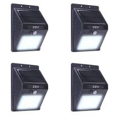 Solar Security Motion Sensor Light by Zzsy 20 Led Outdoor Solar Powered Wireless Waterproof Security