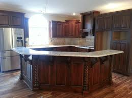 kitchen island with breakfast bar white and brown oak wood grey