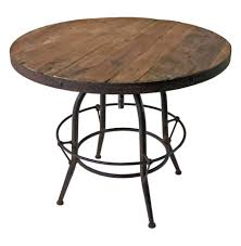 wood and metal round dining table coffee table rustic wood round diningable with iron base and metal