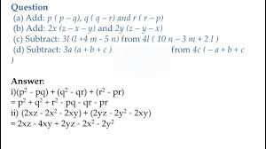 class 8 algebraic expression ncert solutions part 3 youtube