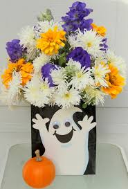 Expensive Vases Halloween Arrangements Using Bags For Vases Sowing The Seeds