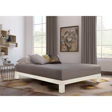 Overstock Platform Bed Motif Design Aura White Platform Bed Free Shipping Today