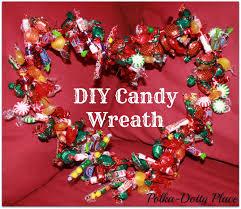 candy wreath polka dotty place diy candy wreath