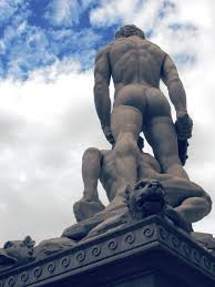 free stock photo of back david david statue