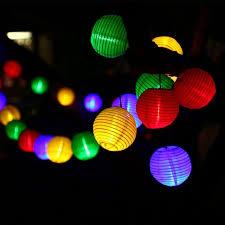 multi colored solar garden lights lantern solar string lights outdoor globe lights 30led warm white