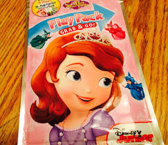 princess sofia coloring book sticker pack play bag