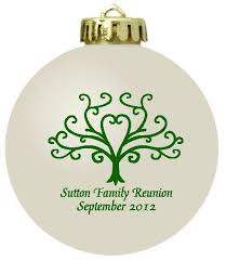 favors for class reunions personalized christmas ornament family reunion favors family