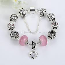 beaded rose bracelet images Elegant beaded charm bracelets with pink essence glass beads jpg