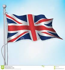 The England Flag Uk British Flag Waving Stock Vector Illustration Of Flying