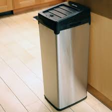 Kitchen Garbage Can With Lid by Itouchless It13rx Trashcan Rx Stainless Steel 13 Gal Trash Can
