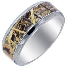 camo mens wedding bands stylish mens titanium camo wedding bands matvuk