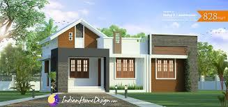 Kerala home design 828 sq ft 2 bedroom Low Cost Plan