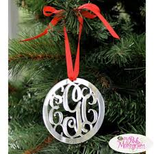 beautiful personalized ornaments the pink monogram