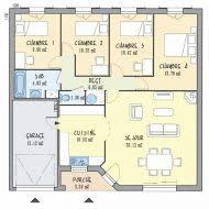 plan maison plain pied 5 chambres plan de maison de plain pied avec 5 chambres