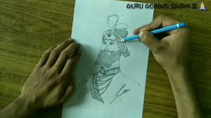 how to draw guru gobind singh ji speed drawing guru gobind