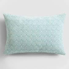 blue geo chenille lumbar pillow world market