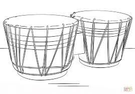 bongo drums coloring page free printable coloring pages