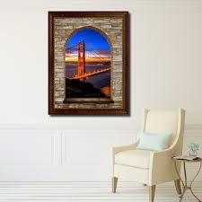 wall art san francisco shenra com golden gate bridge san francisco california sunset picture 3d